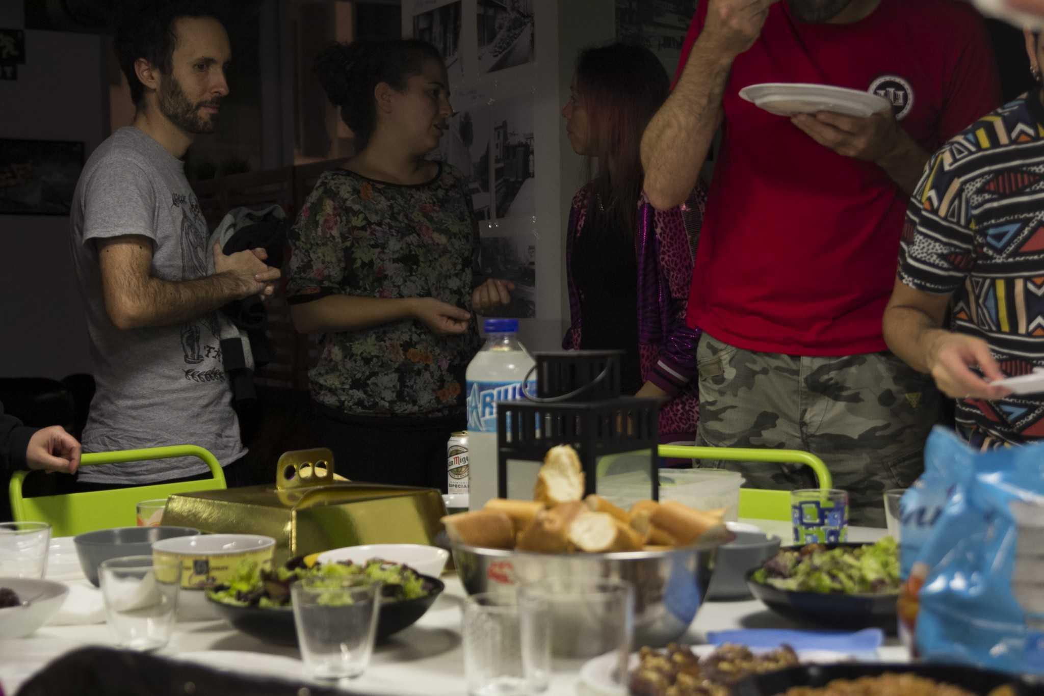 Cena con las participantes